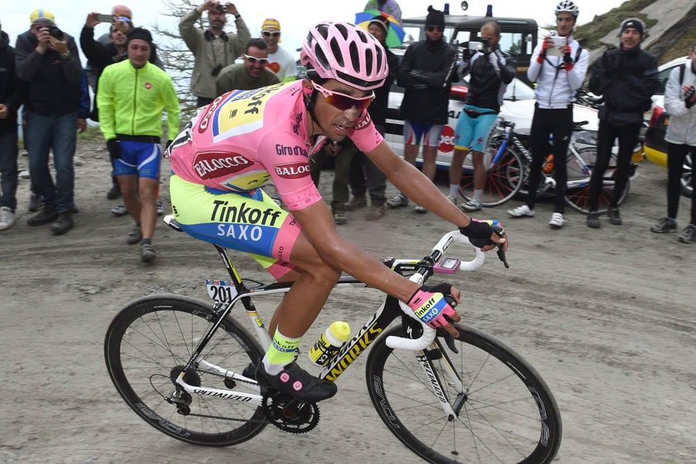 Alberto Contador on stage twenty of the 2015 Tour of Italy